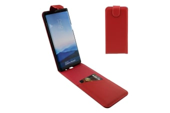 For Samsung Galaxy Note 8 Case iCL Vertical Flip Genuine Leather Cover Red