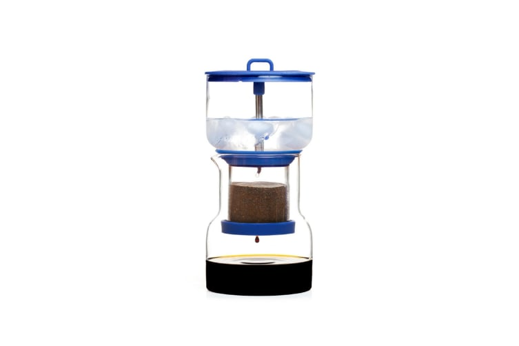 Cold Bruer Slow Drip Coffee Maker Blue Red Or Grey-blue