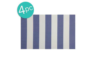 4PK Maxwell & Williams Palm Beach Placemat 45x30cm Table Protector Mat Pad Blue