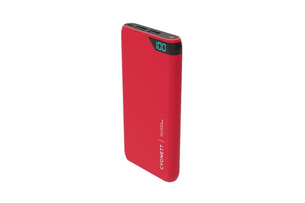 Cygnett ChargeUp Boost 10,000 mAh Dual USB 2.4A Power Bank - Red (CY2504PBCHE)