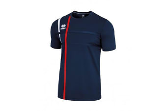 Errea Mens Mateus Short Sleeve Football T-Shirt (Navy/Red)