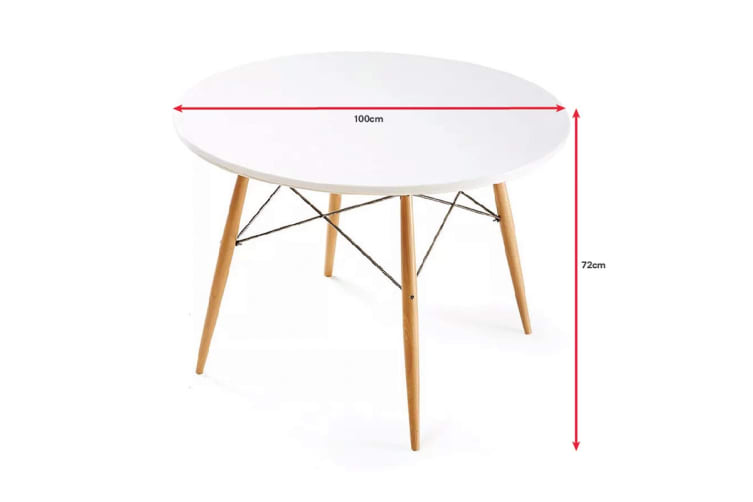 Ovela Eames Replica Dining Table White