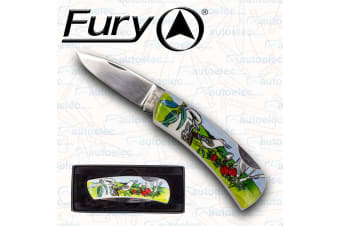 Fury Hunting Camping Fishing Folding Pocket Knife Outdoor Drop Point Blade 20762