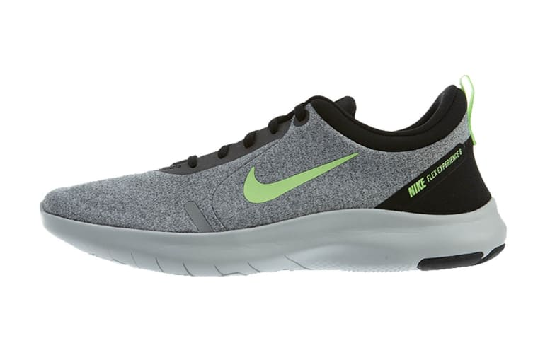 Nike Men's Flex Experience RN 8 (Grey/Lime, Size 9.5 US)