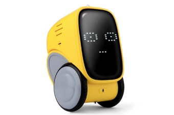 WJS Smart Small Touch-sensitive Robot Voice Instruction Gesture Sensing Recording Music Children Toys-Yellow
