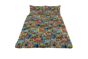 Doctor Who Double Duvet Set (Multi-colour) (One Size)
