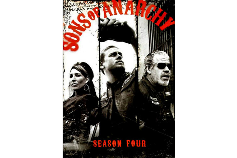 Sons of Anarchy Season Four 4 Disc Sset - Series Region 1 DVD Preowned: Excellent Condition