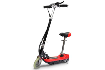 vidaXL Electric Scooter with Seat 120 W Red