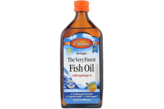 Carlson Labs Norwegian - The Very Finest Fish Oil Natural Orange Flavour - 1,600mg 500ml