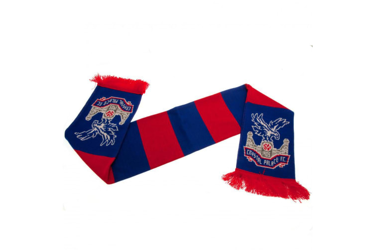 Crystal Palace FC Bar Scarf (Red/Blue) (One Size)