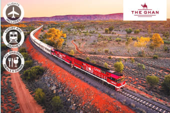 The Ghan – 6 Day Luxury Rail Package from Adelaide to Darwin Including Flights for Two