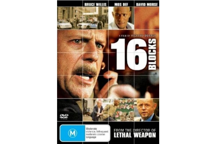 16 Blocks  - Rare- Aus Stock DVD  PREOWNED: DISC LIKE NEW