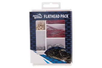 Jarvis Walker 71 Piece Flathead Fishing Pack - Assorted Fishing Tackle Kit