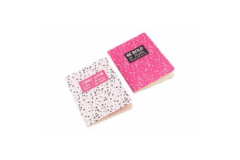 Sweet Tooth A6 I Only Look Be Bold Or Italic Notebooks (Pack Of 2) (Pink/White)
