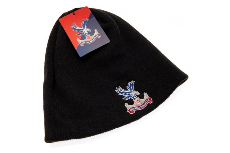 Crystal Palace FC Adults Unisex 47 Knitted Hat (Black) (One Size)