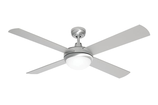 Mercator Grange 1300mm Ceiling Fan with Light - Brushed Steel (FC032134BS)