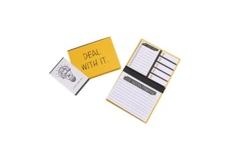 CGB Giftware Strictly Business Mini Sticky Note Set (Yellow)