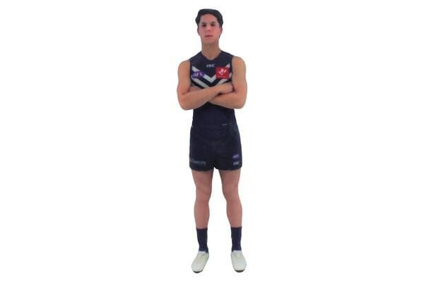 Adam Cerra AFL Fremantle Dockers 3D Printed Mini League Figurine - 23cm
