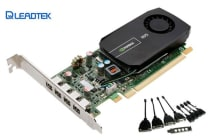 Leadtek Quadro NVS510 2GB Workstation Card - PCIE 4x mDP Low Profile Bracket