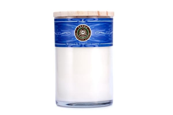 Terra Essential Scents Massage & Intention Candle - Relax (12oz)