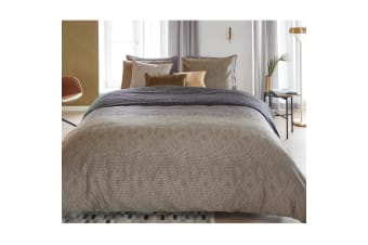 Points and Lines Natural Cotton Sateen Quilt Cover Set by Bedding House