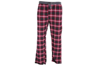 Foxbury Mens Yarn Check Lounge Trousers (Red Check)