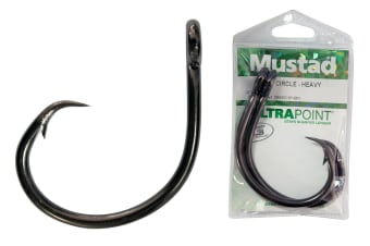 1 Packet of Mustad 39950NP-BN Size 4/0 Demon Perfect Circle Fishing Hooks-Qty:5