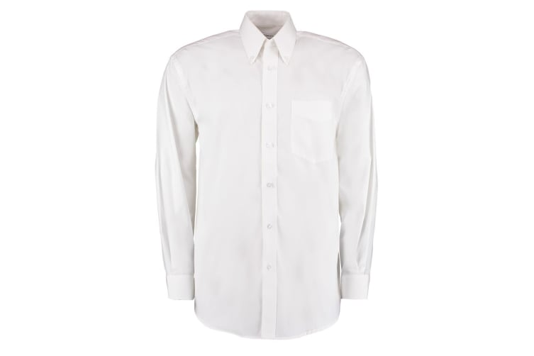 Kustom Kit Mens Corporate Long Sleeve Oxford Shirt (White) (13.5in)