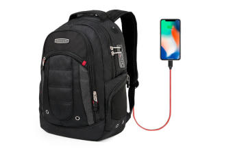 15.6 Inch Laptops and Tablets Backpack with USB Charging Port Laptop bag and Combination Lock