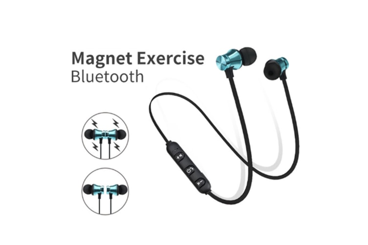 Workout Headphones Playback Noise Cancelling Headsets With Built-In Magnet Silver