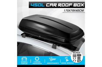 Waterproof Dual Open Universal Car Roof Box Pod - 450L