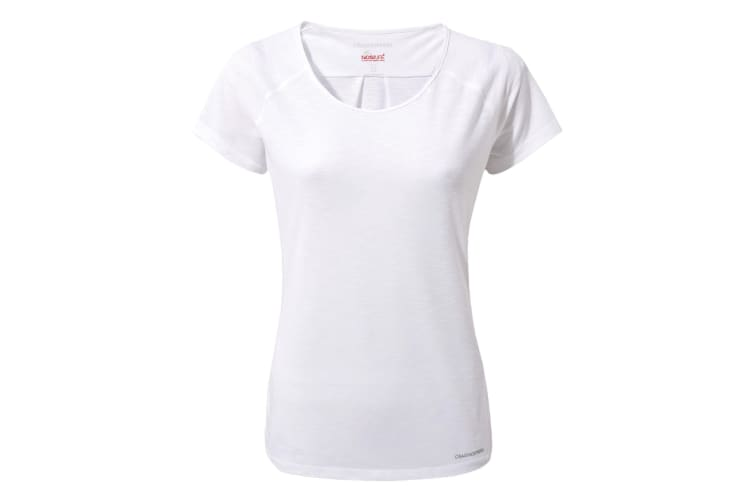 Craghoppers Womens NosiLife Harbour Short Sleeve Top (Optic White) (16)