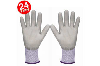 24PK Jackson Size 9/M Safety Work Gear G60 Level 3 Cut Resistant Gloves Hands