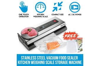 Elinz Stainless Steel Food Vacuum Sealer 4X EXTRA Rolls Packaging Saver Kitchen Weighing Scale