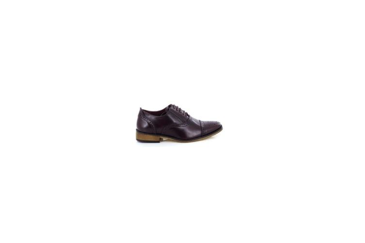 Goor Mens Capped Lace Oxford Brogue Shoes (Oxblood) (13 UK)