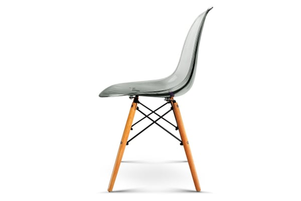 Set of 4 replica Eames Dining Chairs (Transparent)