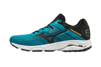 Mizuno Men's Wave Inspire 16 Running Shoe (Enamel Blue/Black/Saffron)