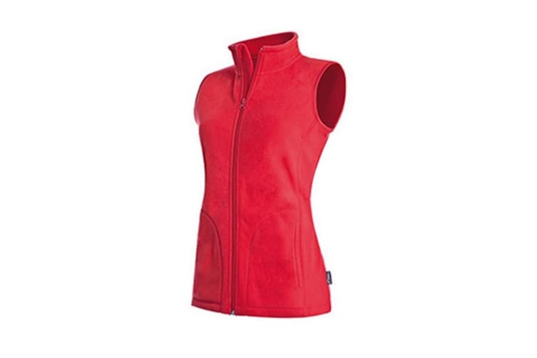 Stedman Womens/Ladies Active Fleece Gilet (Scarlet Red) (XL)
