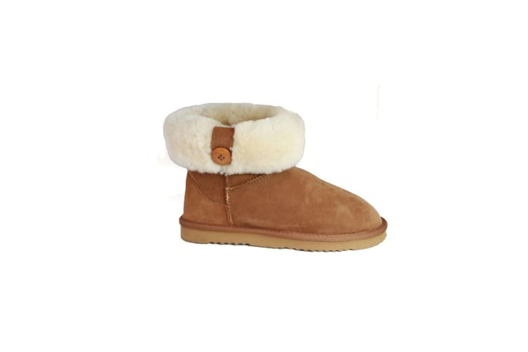 Eastern Counties Leather Womens/Ladies Freya Cuff And Button Sheepskin Boots (Chestnut) (5 UK)
