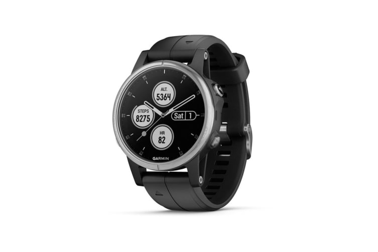 Garmin Fenix 5S Plus (Silver with Black Band)