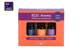ECO. Aroma Sleep Essential Oil Trio (Lavender, Sleep Blend & Dream Drops Blend)