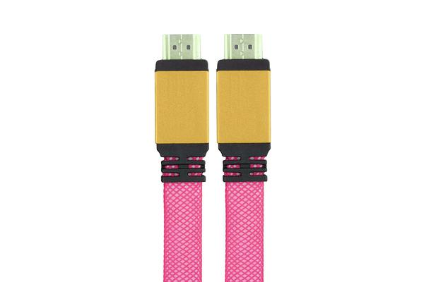 1.5M Hdmi Cable Premium Gold Plated High Speed V1.4 Supports 1080P 3D Pink