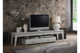 Scandinavian TV Stand 200cm Entertainment Unit Cabinet in White Oak