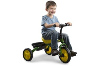 John Deere Ride On Pedal Trike Tricycle Bike Basket Scooter Kids Children Toy