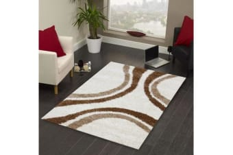 Stylish Curves Runner Rug Ivory