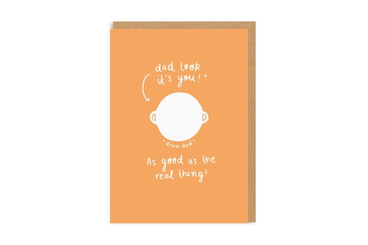 Ohh Deer Draw Dad Greetings Card (Orange/White) (One Size)