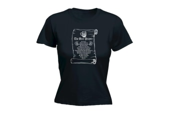 123T Funny Tee - The Beer Prayer - (XX-Large Black Womens T Shirt)