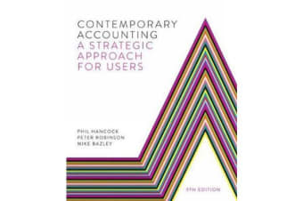 Contemporary Accounting - A Strategic Approach for Users
