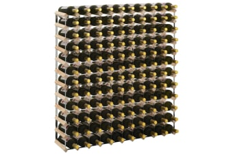 vidaXL Wine Rack for 120 Bottles Solid Pinewood
