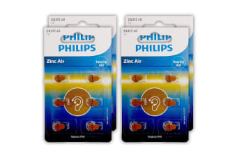 24pc Philips Button Cell Hearing Aid Battery